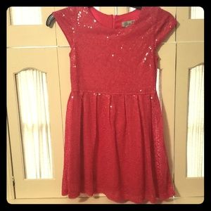 Elisa B. Hot pink sequin dress size 8